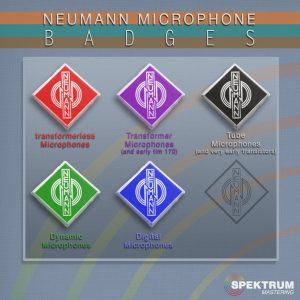 Neumann microphone badges